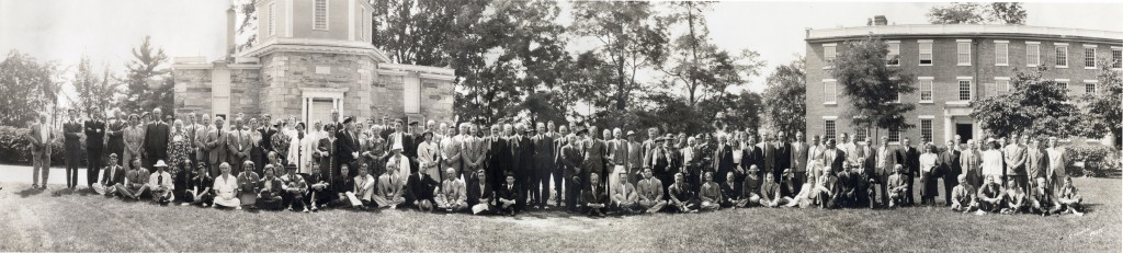 Group photo of 1937 American Astronomical Association meeting
