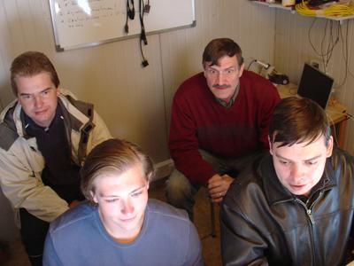 At Cerro Armazones, Chile (L-R): Taavi Tuvikene, Joseph Gangestad, Bryce Babcock, Michael Person