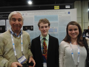 Prof. Jay Pasachoff brought Allen Davis '14 and Allison Carter '16 to the American Astronomical Society's 223rd meeting, held in National Harbor, Maryland (near Washington, DC) in January 2014.