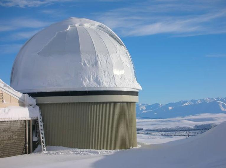Dome at Mt. John during the 2006 June Pluto Occultation