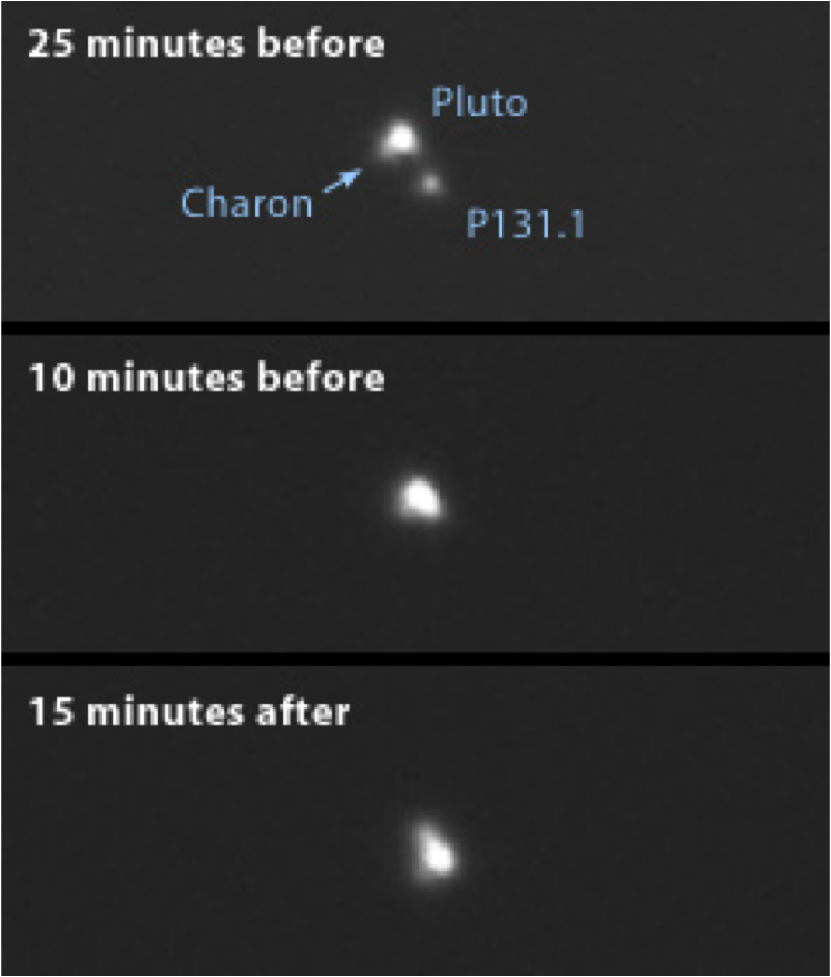 Labeled imaged from August 2002 Pluto Occultation