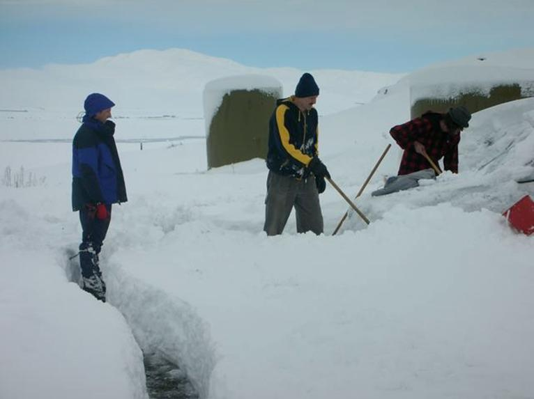Snowed in at Mt. John during the 2006 June Pluto Occultation