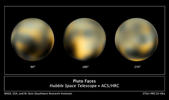 faces of pluto