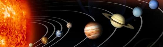 Sun Planets Banner Astronomy